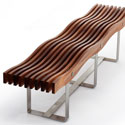 Obbligato Timber wave bench