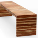 Flat laminated timber bench - B006
