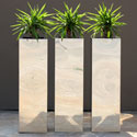 D Range stainless steel planters