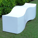 Obbligato Stainless steel powder coated wave bench
