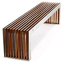Obbligato Flat timber slat bench
