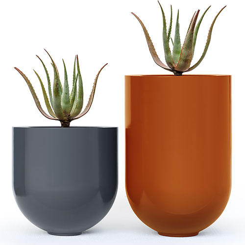 Fibreglass planters painted to any colour