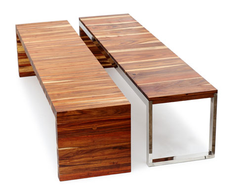 B006 - Obbligato flat timber benches