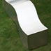 Obbligato Stainless steel wave bench