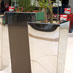 Stainless steel planters at Alberton City Shopping Centre
