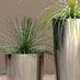 Obbligato Stainless steel round planters