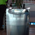 Stainless steel planters at King Shaka Airport