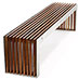 Flat Timber Slat Bench - B003