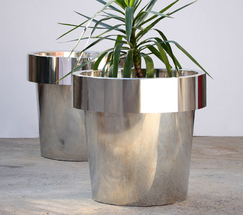 RND660W_stainless steel planter