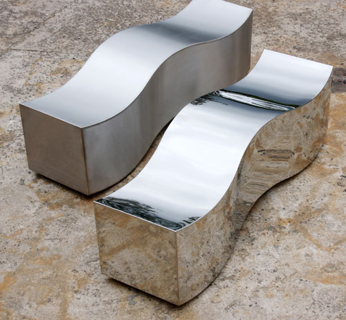 Obbligato Stainless steel wave benches