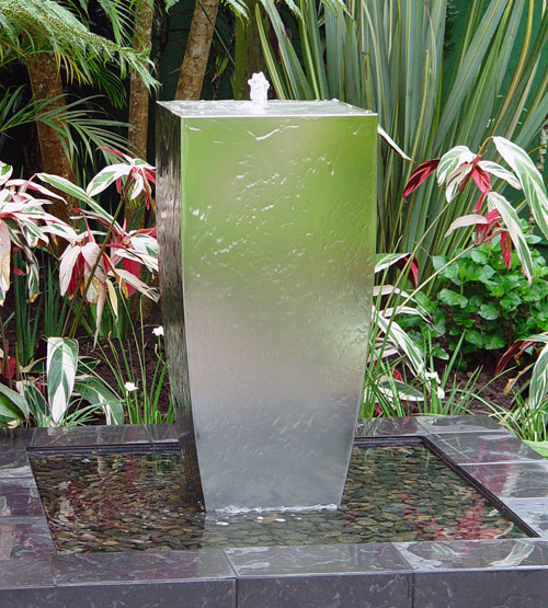 A Range stainless steel water features