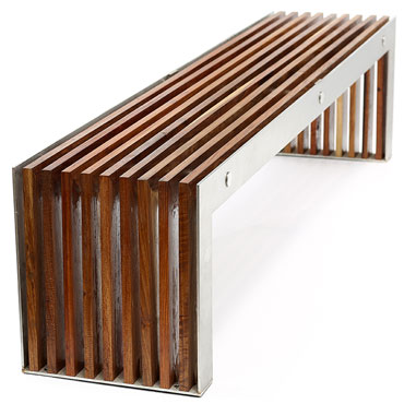 Timber slat benches